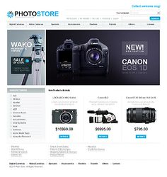 Photo Store Magento Themes by Cowboy