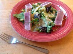 Seared Tuna Salad with Chia Dressing