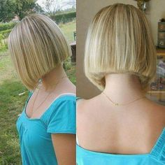 Chic Gray Blunt Haircut - 50 Spectacular Blunt Bob Hairstyles - The Trending Hairstyle Shaggy Bob Haircut, Blunt Bob Haircuts, Blunt Haircut, Stacked Haircuts, Line Bob Haircut, Haircut For Thick Hair, Short Bob Hairstyles, Best Bobs, Chin Length Bob
