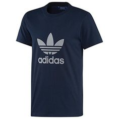 Adidas Originals Trefoil Mens Crew T-shirt Navy Size Larg... http://amzn.to/28QrpR6