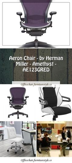 Aeron Chair By Herman Miller Amethyst Ae123gred In 2020 Chair Aeron Chairs Yellow Office Chair