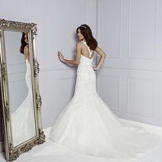 Back of Brogan Wedding Dress - Amanda Wyatt Blue Iris 2015 Bridal Collection