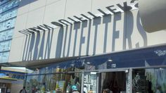 Urban Outfitter silhouette signage