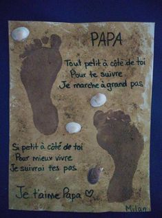 Activités manuelles Easy Fathers Day Craft, Gifts For Father, Bricolage Halloween, Memory Crafts, Puffy Paint, Mother And Father, Gift Tags, Messages, Activities
