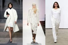 White fall 2013 runways