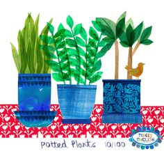 Potted Plants by Tracey English www.tracey_english.co.uk