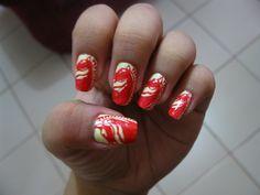 Horse+Nail+Art | nail art red horse beer logo 6