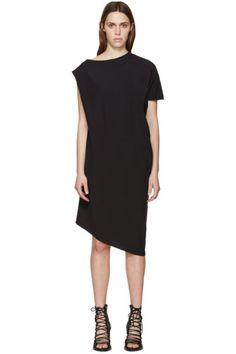 Ann Demeulemeester Black Silk Kennedy Dress