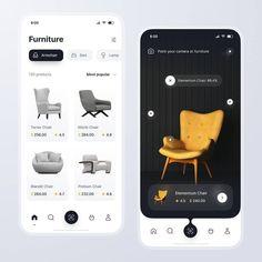 Application в Instagram: «Furniture App Brain By: @anronkai Use #APPBrainy Community and Get Free Features —————————————————— - Photo Inspiration: @PhotoBrainy -…» App Ui Design, Web Design Trends, Mobile App Design, User Interface Design, Mobile Ui, Logo Design, Ui Ux Designer, Ui Website, App Design Inspiration