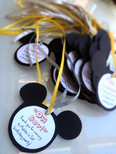 Mickey Mouse ears favor tags