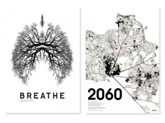 'breathe' and '2060' posters - produced to raise awareness of the destruction of the amazon rainforest for the US-based charity rainforest ...