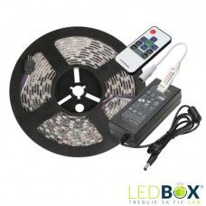 Kit banda LED 5050 rgb banda led rola 5 metri plus sursa curent si controller si telecomanda rf 11 taste Lead Boxes, Led Store, Kit