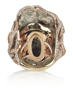 LYDIA COURTEILLE Galaxy 18K Rose Gold, Diamond and Crystallized Agate Ring, The Carved Celestial Designs at back make this investment piece feel even more Special. 33,110.00 USD