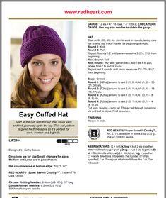 Beanie Knitting Patterns Free, Knit Beanie Pattern, Knit Headband Pattern, Baby Hats Knitting, Crochet Stitches Patterns, Knitted Headband, Loom Knitting, Knitting Stitches, Knitted Hats