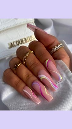 Bling Acrylic Nails, Acrylic Nails Coffin Short, Summer Acrylic Nails, Best Acrylic Nails, Acrylic Nails With Design, Stiletto Nail Designs, Summer Stiletto Nails, Pink Chrome Nails, Acrylic Nail Designs Coffin
