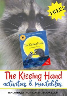 In The Kissing Hand, Momma Raccoon has a little trick to put her son, Chester, at ease as he heads off to school for the very first time. Her trick is one you can use with your own sweeties. Preschool First Day, First Day Of School Activities, Kindergarten First Day, 1st Day Of School, Beginning Of The School Year, Kindergarten Activities, School Fun, Book Activities, Back To School