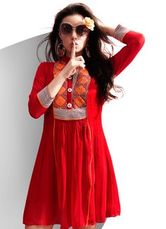 Women's kurtis online: Buy stylish long & short kurtis from top brands like BIBA, W & more. Explore latest styles of A-line, straight & anarkali kurtas. Pakistani Dresses, Indian Dresses, Indian Outfits, Indian Attire, Indian Ethnic Wear, Casual Dresses, Fashion Dresses, Girls Dresses, Kurta Designs Women