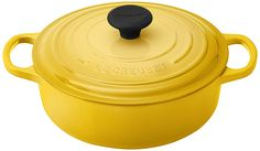 Le Creuset LS2552-241M Signature Round Wide Oven, 3.5-Quart, Soleil *** Discover this special product, click the image : Dutch Ovens