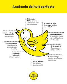 Un tuit perfecto Social Web, Marketing Digital, Social Media Marketing, Social Media Tips, Social Networks, Instagram And Snapchat, Community Manager, Learning Tools, Digital Media