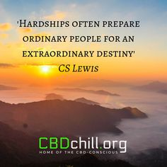 Hardships often prepare ordinary people for an extraordinary destiny - CS Lewis Cs Lewis, How To Get Rich, Insomnia, Consciousness, Continue Reading, Destiny, Quotes To Live By, Things To Come, Health