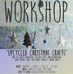 Workshops @tramshedcardiff at the @cavetsy event! Join us to kick start a crafty Christmas! From upcycled Christmas tree decorations & garlands to wrapping paper jewellery and lots more! All materials provided but we might ask you to bring along a few bits from home if you have them! Workshop will take place at the upstairs bar starting from 2pm! Don't miss it! #events #etsymadelocal #upcycling #upcycle #christmas #christmasdecoration #xmas #love #workshop #cardiff #christmascardiff…