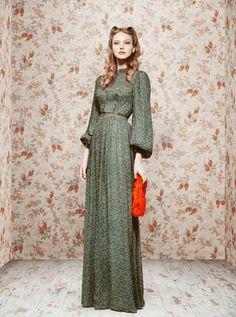 Vintage Soviet Lookbooks - Ulyana Sergeenko Debut Collections Features Hyper-Glamorous Looks (GALLERY)
