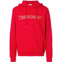 Gcds printed drawstring hoodie (270 BRL) ❤ liked on Polyvore featuring men's fashion, men's clothing, men's hoodies, red, mens cotton hoodies, mens sweatshirts and hoodies and mens hoodies