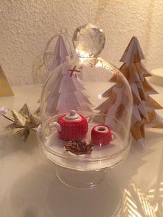 Cloche thé de Noël en Alsace : Accessoires de maison par tea-for-you #tea #christmas #fimo