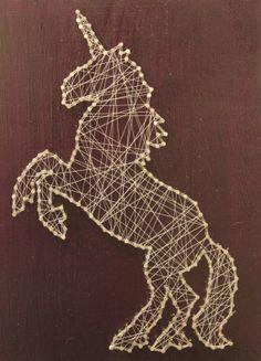 Unicorn Thread Art by MindLaunch on Etsy, $40.00