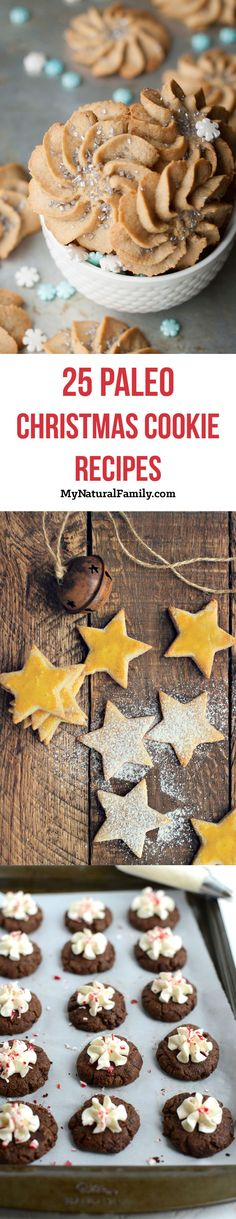 The 25 Best Paleo Christmas Cookie Recipes paleo dessert cookies Dessert Sans Gluten, Paleo Dessert, Real Food Recipes, Cookie Recipes, Yummy Food, Free Recipes, Baking Recipes, Paleo Sweets, Healthy Desserts