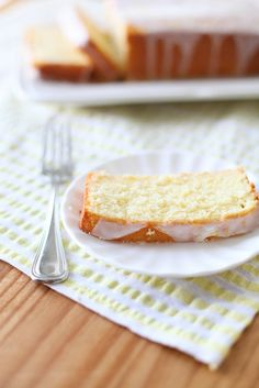 Lemon Loaf Cake | Annie's Eats - this looks similar to Starbucks' old lemon loaf. Yum!