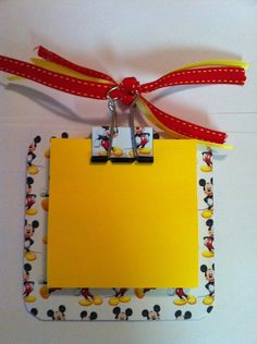 Mickey mouse post it note holder with magnets by mindiscraftshop, $3.80