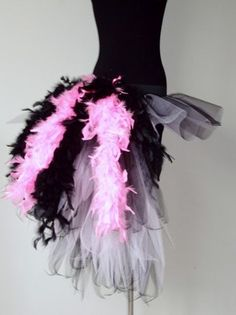 Burlesque Tutu Skirt BaByPink/Black Feathers 14-18SEXY   eBay