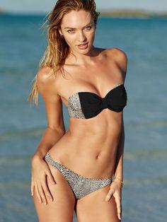 2f9ff69cda75 Bikini Fascia 2015 Catalogo Costumi Mare Victorias Secret Con Fiocco Moda Costumi  Da Bagno, Costumi