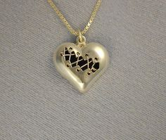 Mended Heart Necklace  Hand fabricated by rockystiersjewelry
