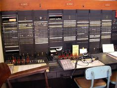 3CL toll switchboard: Key Pulse position on left,  Rotary Dial position on right. Seattle Telephone Museum