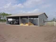MD Barnmaster Authorized Dealer - Great Metal Shed for Horse Trailer, Hay, Shavings, tractor, or other equipment!