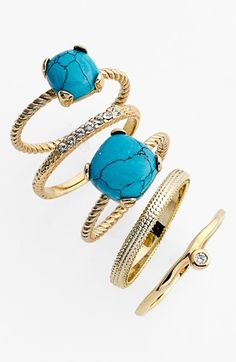 Ariella Collection Stackable Rings (Set of 5) available at #Nordstrom