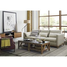 Lynx Grey Striped Hand Knotted Wool 5'x8' Rug | Crate and Barrel