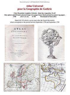 Atlas Universel pour la Geographie de Guthrie 1799