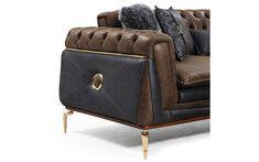 Bentley Koltuk Takımı - (3-3-1) Sofa Furniture, Luxury Furniture, Chesterfield Chair, Armchair, Sofa Design, Sofas, Accent Chairs, Living Room, Color