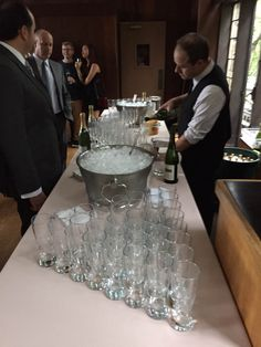 Bar Setup For Wine Beer Champagne Service 130 Guests Miraglia Catering General Pinterest Wedding And Weddings