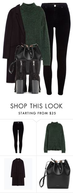 """""""Untitled #6045"""" by laurenmboot ❤ liked on Polyvore featuring River Island, H&M, Zara and rag & bone"""