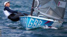 Ben Ainslie sailing off Weymouth