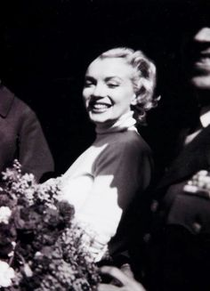 Marilyn Monroe at the Brady Air Base in Japan, on February 9, 1954