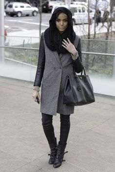 Zara coat, G-Star pants, American Apparel scarf, and Prada bag. doing this with far more colors. maybe even color blocking