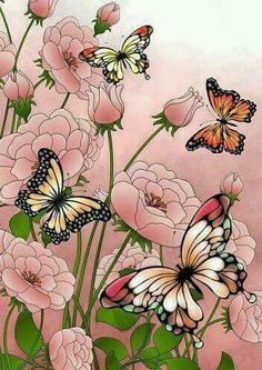 Fleur. Papillon