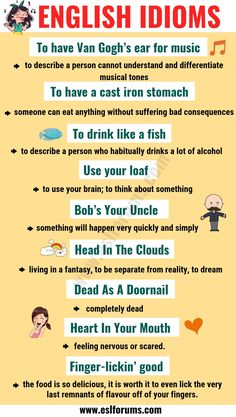 Top 20 Funny Idioms in English You Might Not Know! - ESL Forums - # learn english funny Top 20 Funny Idioms in English You Might Not Know! Teaching English Grammar, English Writing Skills, English Language Learning, English Lessons, French Lessons, Spanish Lessons, Japanese Language, Teaching Spanish, Spanish Language