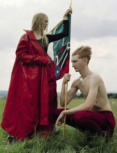 Master photographer Tim Walker delivers another of his original and  memorable editorials, this time starring Sean Campbell, Alice Wheeler,  Tyler Cowan, James Fleury, Sam Marriot, Jack Northwick, Ryan Skelton, Harry  Smith, John-William Watson, Brandon Becker and Tom Philips. Max Pearmain  styles 'Have fun! with a medieval, athletic twist for Vogue Italia  November 2016./ Hair by Gary Gill; makeup by Lauren Parsons