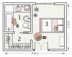 vestidor planta arquitectonica - Buscar con Google